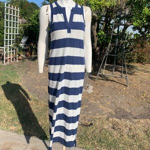 GAP Navy Blue & White Maxi Beach Coverup